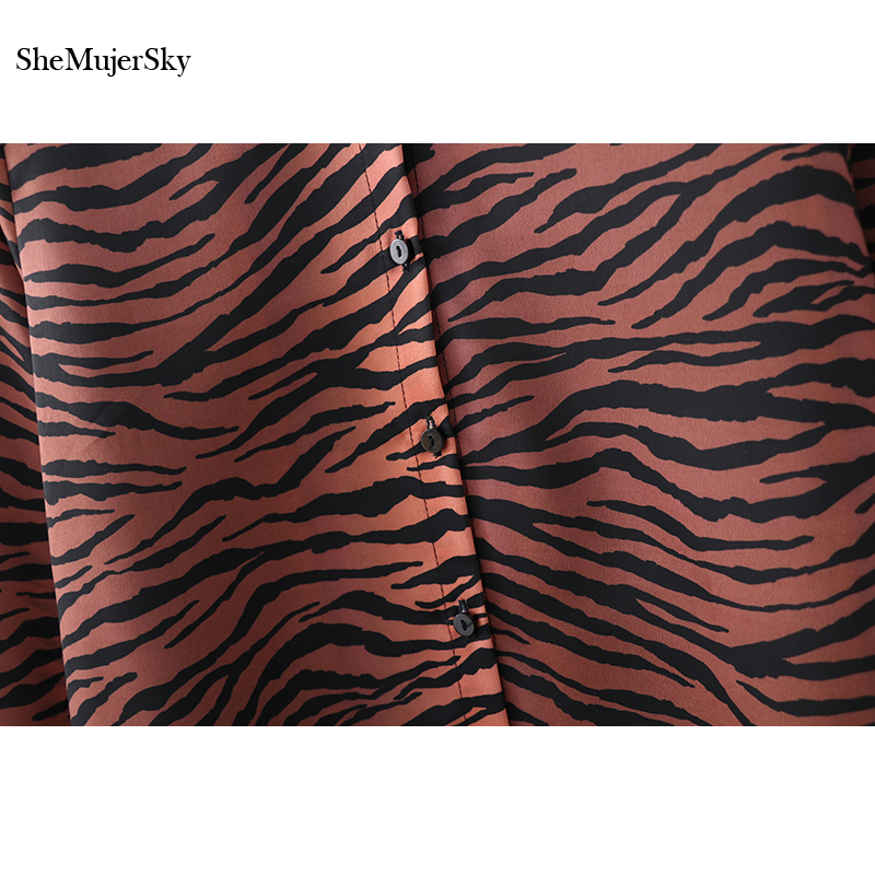 d6dae431c9 SheMujerSky Zebra Striped Shirt Long Sleeve Turn down Collar Blouses  Clothes Women Tops -in Blouses   Shirts from Women s Clothing on  Aliexpress.com ...