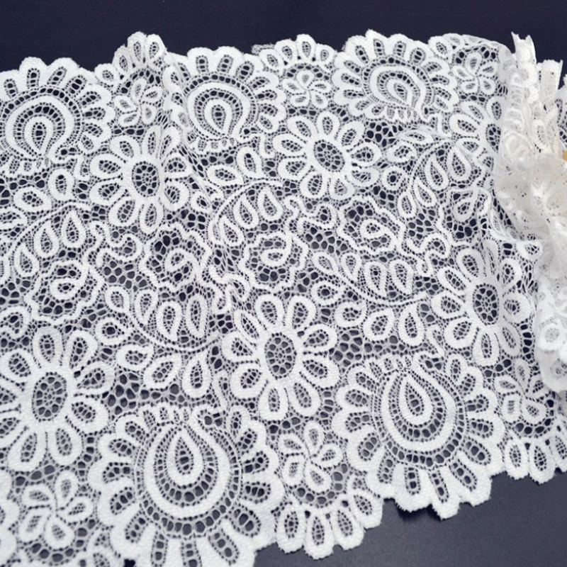 New Arrival 3Yards 22cm Black White Lace Fabric DIY Crafts Sewing Suppies Decoration Accessories For Garments Elastic Lace Trim-in Lace from Home & Garden on Aliexpress.com | Alibaba Group