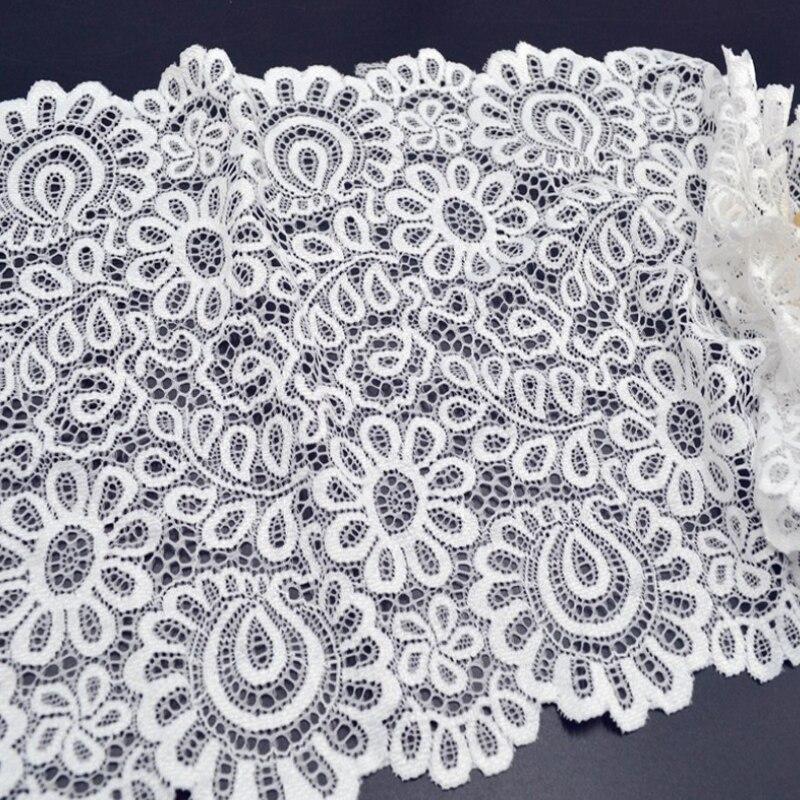 Tissu en dentelle blanche noire, de bricolage, 3 mètres, 22 cm, accessoires de décoration pour vêtements