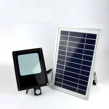 8PCS LED ไฟ LED พลังงานแสงอาทิตย์สำหรับตกแต่งสวน PIR Motion Sensor กันน้ำ IP65 20W ไฟ LED น้ำท่วมกลางแจ้งโคมไฟฉุกเฉิน