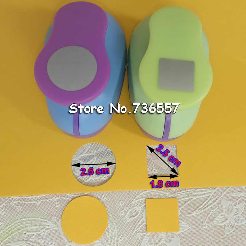 2 pièces rondes et carrées en forme de poinçon Artisanat Scrapbooking école Papier Perforateur eva perforatrice livraison gratuite 1.8 cm 2.5 cm