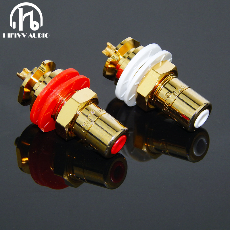 Hifi Cmc 816u Amplifier Of Gold-plated RCA Socket Connector For Amp CD Player RCA Jack