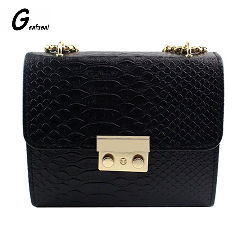 Geafasai Small Women Bag Messenger Shoulder Sling Purse Lady Handbag Simple Alligator Crocodile Leather Mini Women Crossbody bag недорго, оригинальная цена