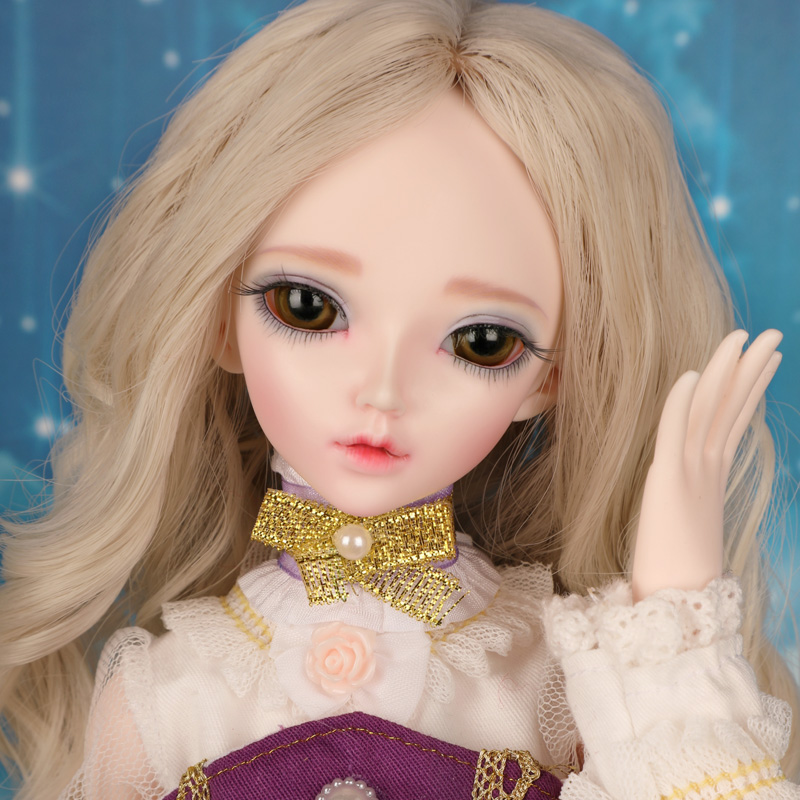 Full Set 1/4 Bjd Doll Sd Fashion Chloe Joint Resin Doll With Eyes For Baby Girl Christmas Birthday Present Gift