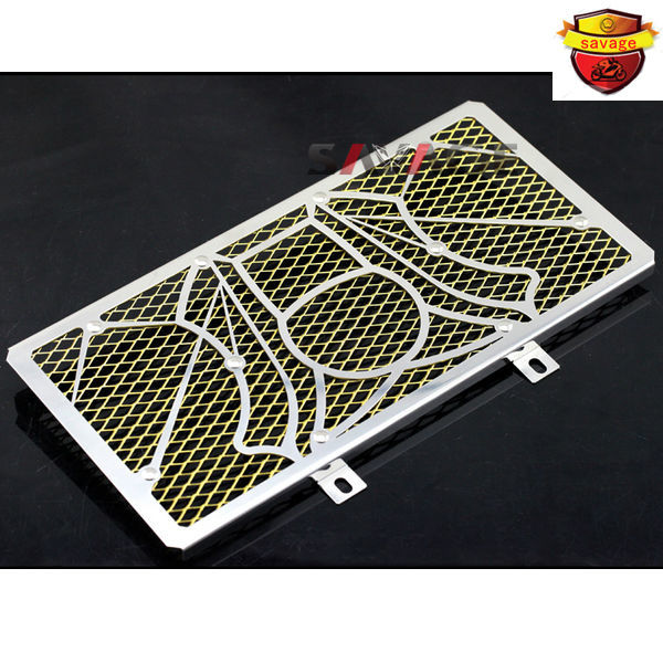 For KAWASAKI ER-6N ER-6F ER6N ER6F NINJA 650R 2012-2014 Motorcycle Radiator Grille Guard Cover Protector Tank Protection Net universal motorcycle chain tensioner bolt on roller chopper atv dirt street bike for kawasaki er 6f er 6n ninja 650r 400r 300