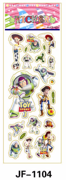 20 Sheets Combo Deal, Free shipping TY0028 Toy Story 3 Stickers, Woody Buz Lightyear Stickers, Vinyl Plastic Stickers Wholesale