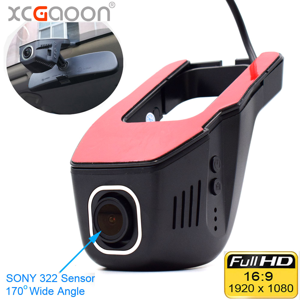 XCGaoon Wifi Car DVR Registrator Digital Video Recorder Camcorder Dash Camera 1080P Night Version Novatek 96655 Rotate 45 Degree