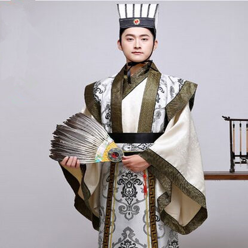 zhuge liang costume  Liu Bei Cao Cao Sun Quan clothing Chinese folk stage tv show costumes the Three Kingdoms cosplay costumes