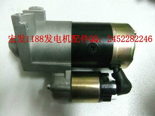 ELECTRIC START MOTOR WITH SOLENOID FOR <font><b>HONDA</b></font> GX610 <font><b>GX620</b></font> GX670 V TWIN ENGINE STARTING MOTOR 8.5KW 10KW GENERATOR <font><b>PARTS</b></font> image
