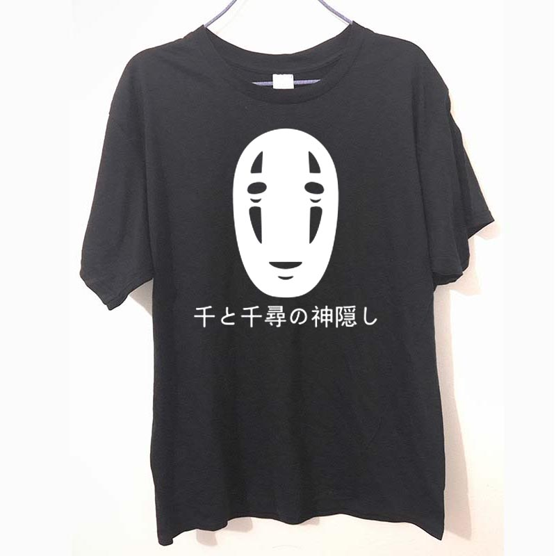 Japanese Style Spirited Away Letters Print T Shirt Cotton