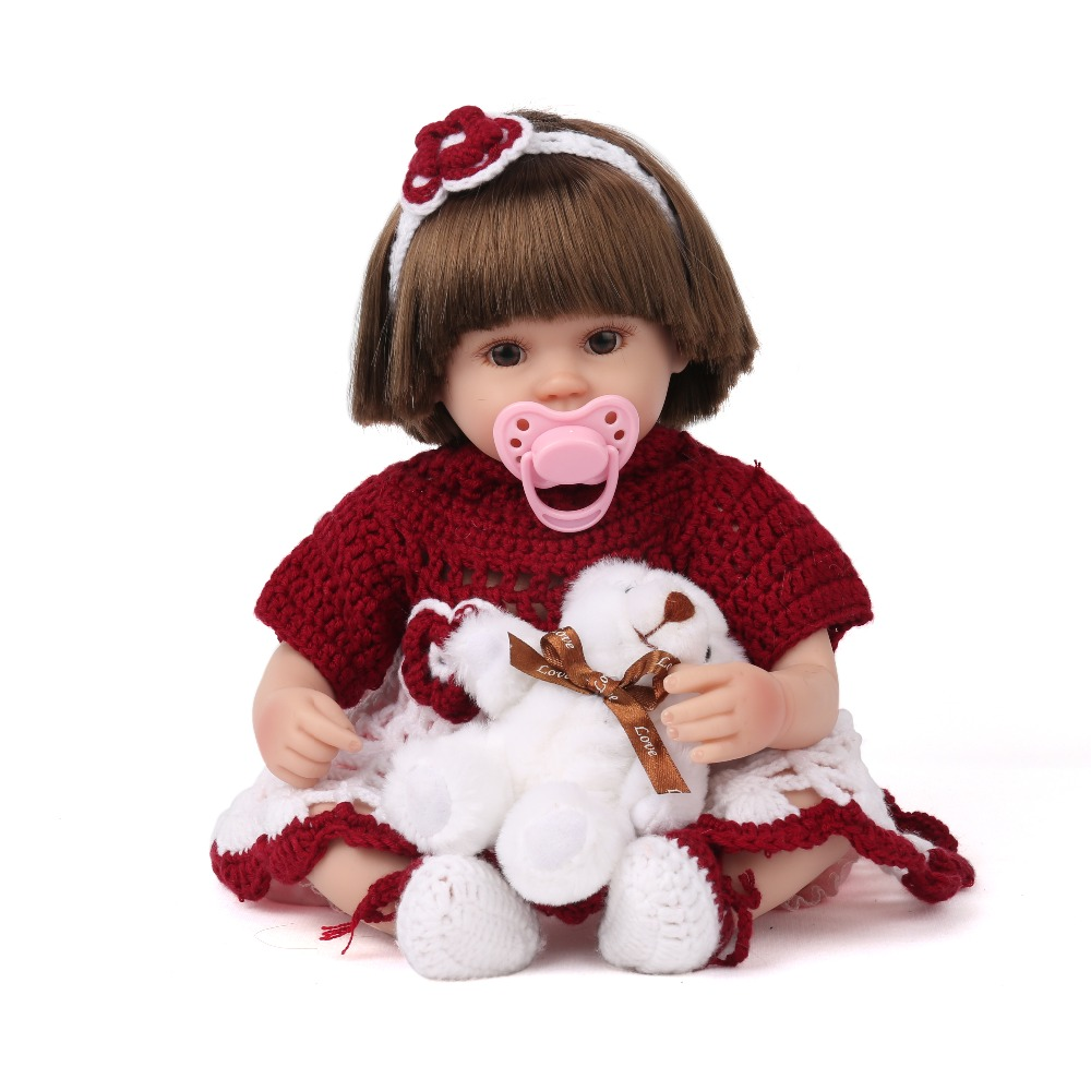 KAYDORA 16 Inches Doll Reborn Baby Soft Silicone Fashion Toys 40cm Little Girl Love Doll Wholesale Bathable Reborn little love
