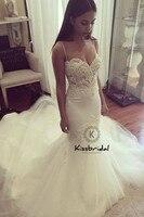 wedding dress boho New Romantic Wedding Dress Summer Style Spaghetti Straps Mermaid Wedding Gown
