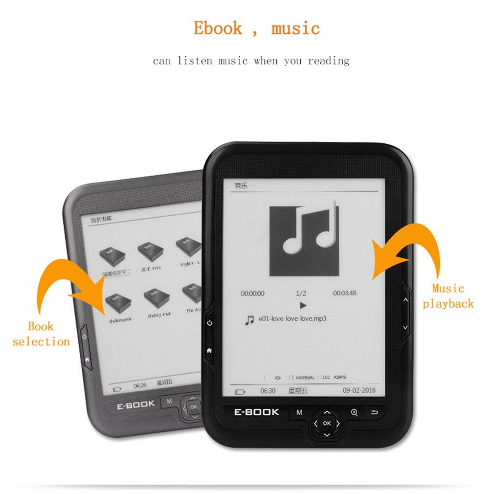 BK6006 HD 6 pouces 4G/8G/16G lecteur d'ebook Ereader lecteur de livre Comfortlight Pro