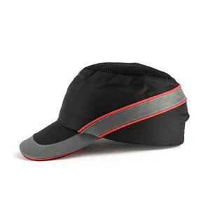 Image 1 - Mevsimlik nefes çalışma emniyet kaskı yumru şapka moda rahat güvenlik Anti darbe hafif kask güneş koruyucu koruyucu şapka