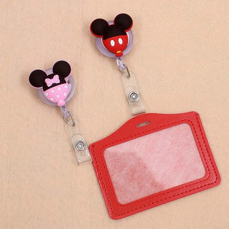 1pcs New Cartoon Colorful Students Nurse Retractable Pull Badge Reel ID Lanyard Name Tag Card Badge Holder Reels For KIDS