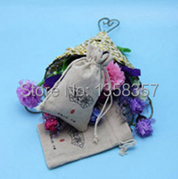 100pcs/lot wholesale jute/linen/flax drawstring gift bags for cosmetic/ring/headset packaging,Size be customized,Various colors