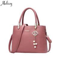Aelicy Women S Leather Handbags Female Shoulder Bag Luxury Designer Lady Tote Large Capacity Zipper Handbag
