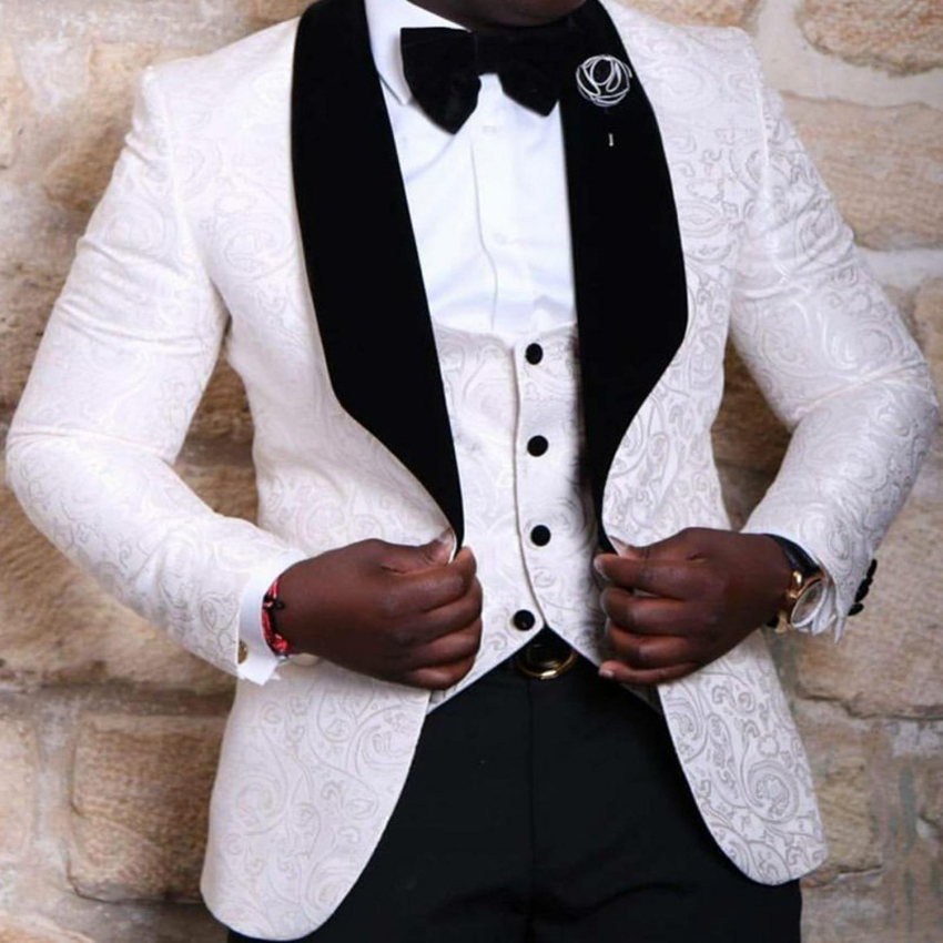 Seespmall Groomsmen Men Suits Wedding Best Man Blazer