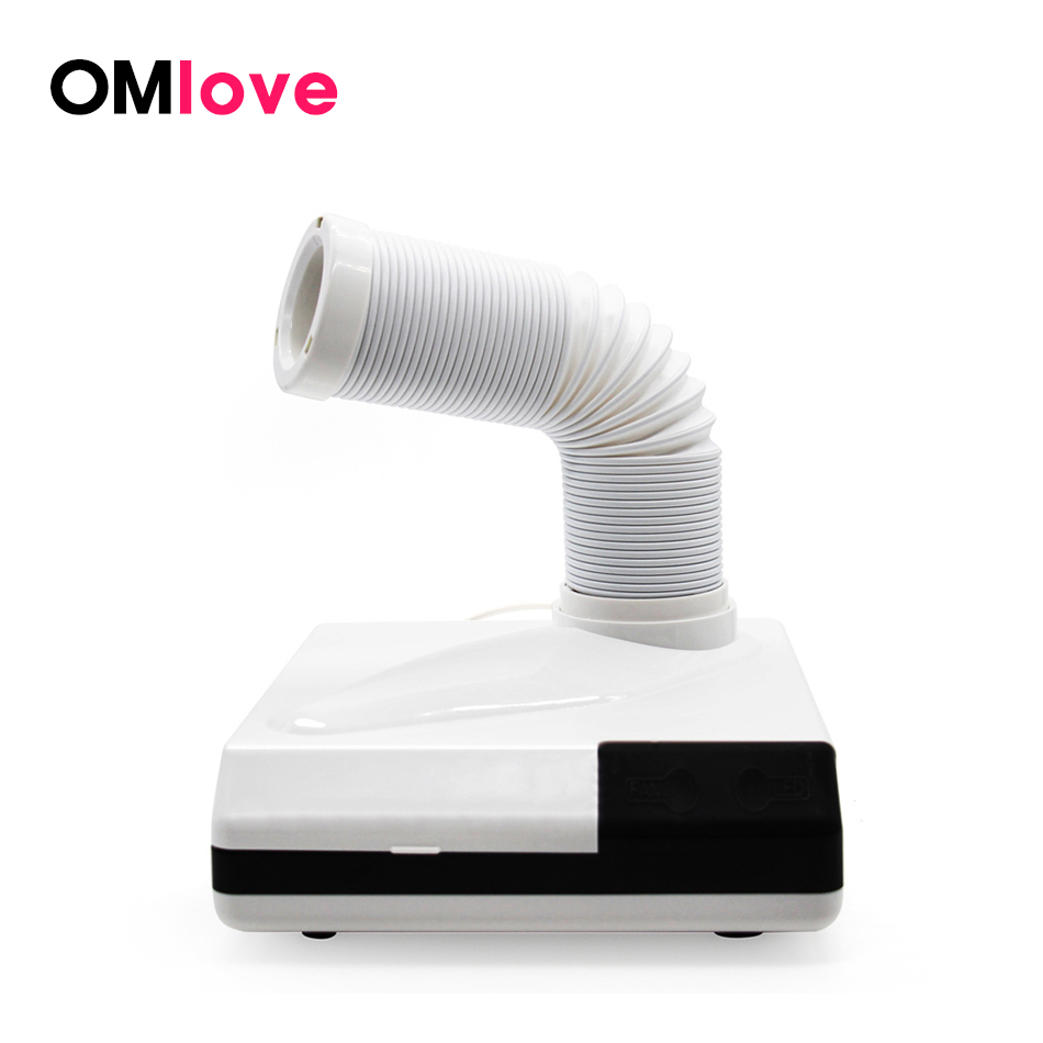 OMlove 60W Strong Nail Dust Collector Suitable for Nail Salon Vacuum Cleaner Adjustable Telescopic Nail Dust