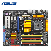 DDR2 / DDR3 LGA 775 For ASUS P5QC Motherboard For Intel P45 Desktop Mainboard Systemboard PCI E X16 8 Phase Power Supply Used