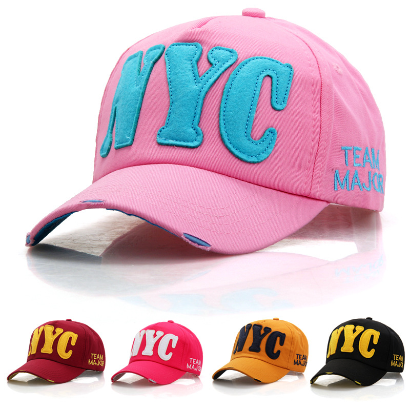 Fashion <font><b>NYC</b></font> letter Baseball Caps Summer Women and Men Casual Sport Cap Sun Protection Snapback Cap Hip Hop Cap Hats DropShipping image