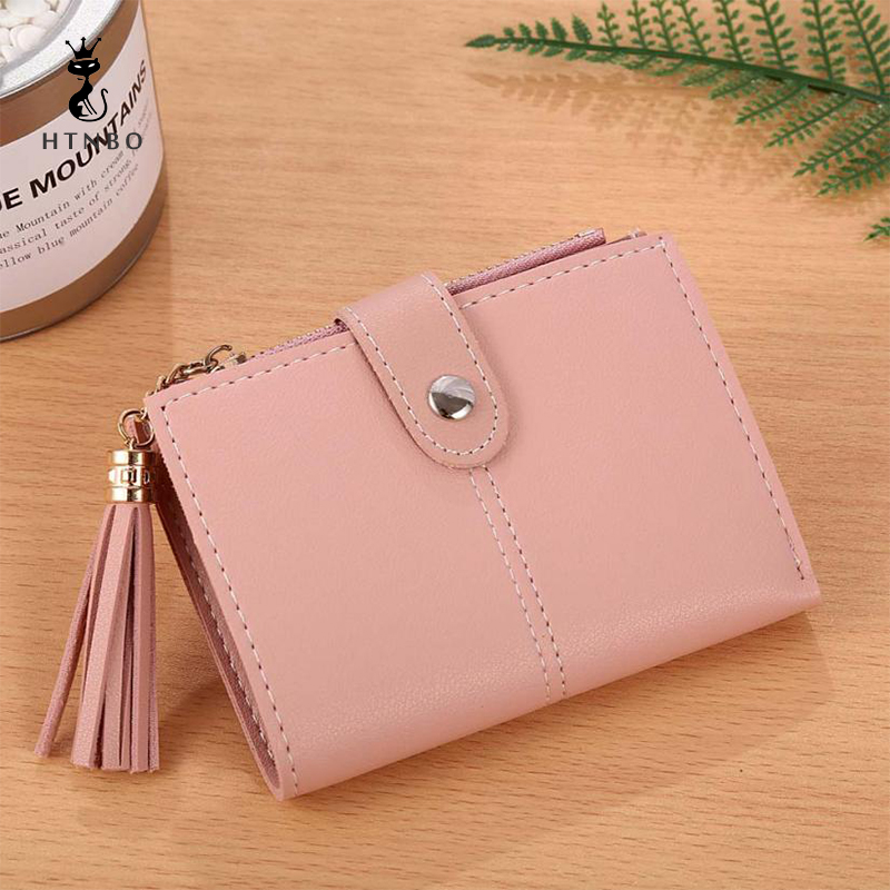 HTNBO Wallet Womens Coin Purse Lady Luxury Handbags Card Holder Tassel Women Leather Bags Short Handbag Tote Designer Carteira ...