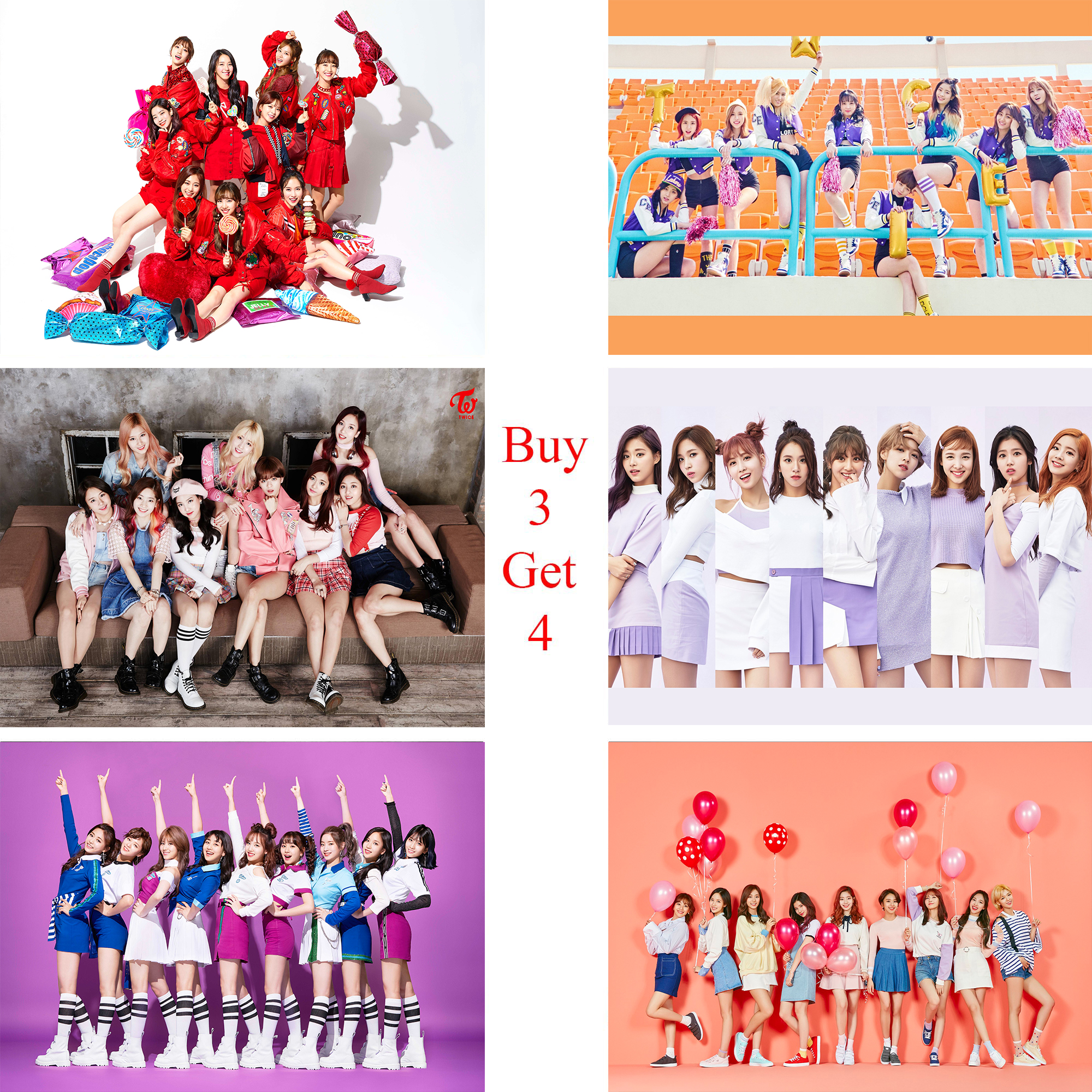 Twice Posters K-POP Wall Stickers White Coated Paper Prints High Definition Livingroom Bedroom Bar Home Art Brand