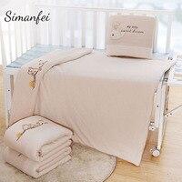 Simanfei Winter Baby Swaddle Wrap Blankets Soft Newborn Basket Stroller Bedding Covers Blankets Children's Cartoon Quilts