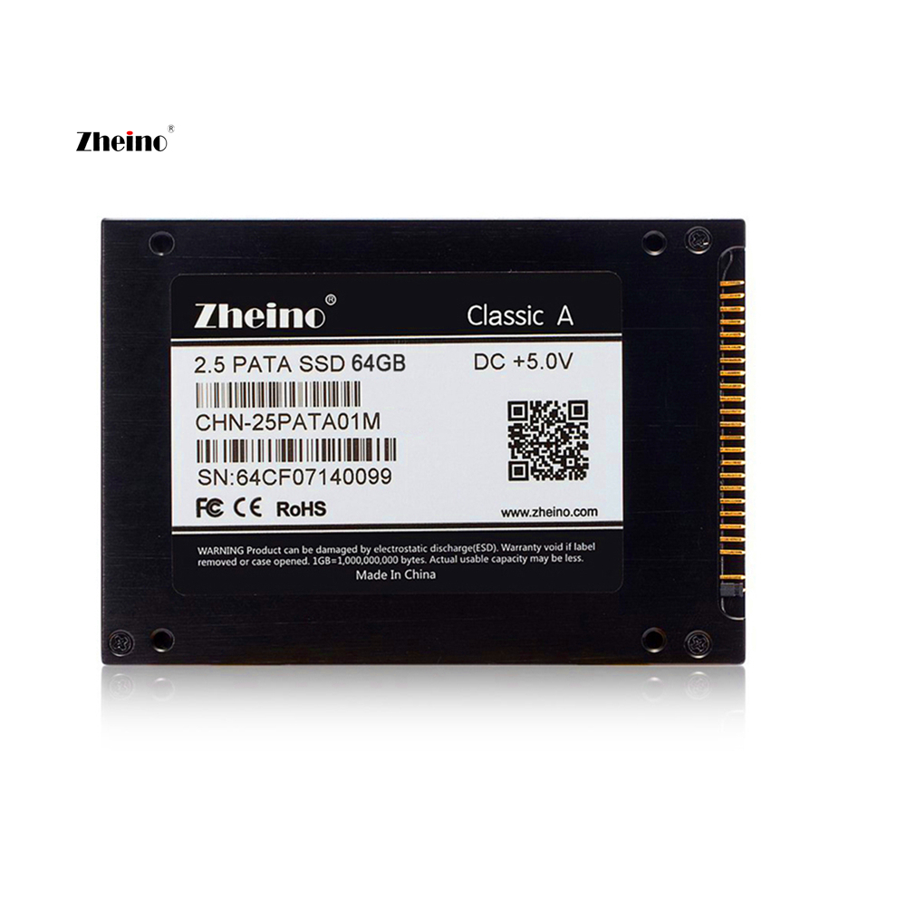 IDE PATA 64GB SSD Internal Solid Disk Drive 2D MLC NOT 3D TLC Zheino 2.5 inch/9.5mm 44PIN Hard Disk Drive For Laptop PC