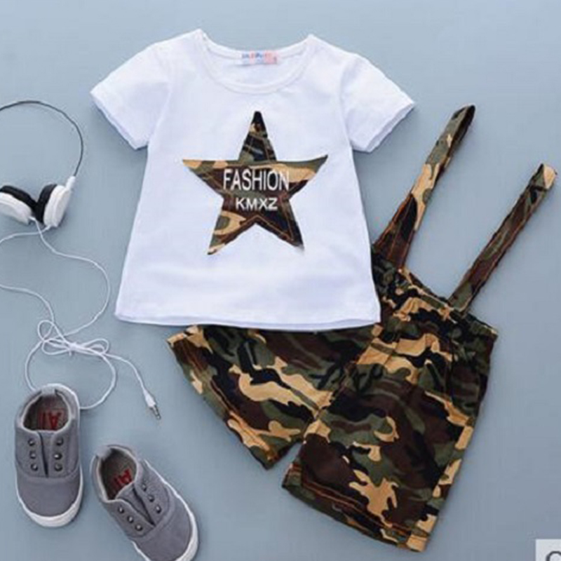 ab16e24bd Summer children sets printed baby boy girl clothes casual cotton two piece  set outfit 1 2 3 4 years shirt tees and shorts kids