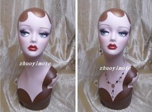 High quality vintage Mannequin dummy Head Bust, Wig Hat Jewelry Display,mannequin female