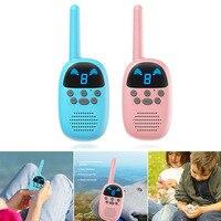 1 Pair Walkie Talkie Children Interphone Educational Games Handheld Toy Radio Kids Gift FJ88