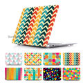 BTD Unique Case Cover for MacBook Pro Retina 13 15 MacBook 12 Air 11 13.3 inch Abstract geometric stripe pattern Shell Sleeve