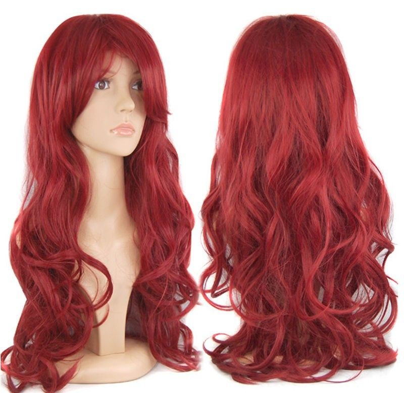 Wavy Reddish Purple Lace Front Synthetic Wig LF814 | Red