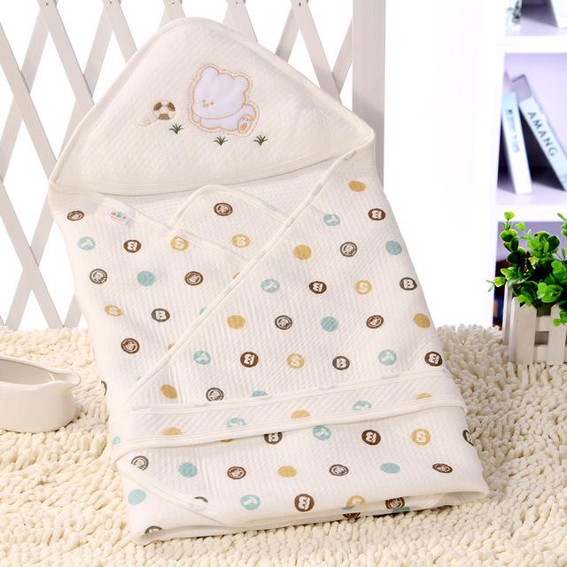 2016 Outono Primavera New Bonito Algodão de Fibra de Bambu Do Bebê Envoltório Swadding Cobertor ou Toalha de Banho Recém-nascidos Saco de Dormir Infantil Verão
