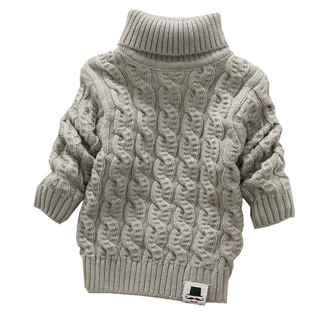5f5737dcbe6c Boys Girls Turtleneck with Beard Label Solid Baby Kids Sweaters Soft ...
