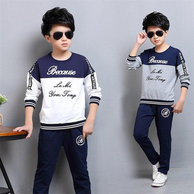 05b85e74b 4 12 y children boys clothes kids boy set long sleeve sweatshirt ...
