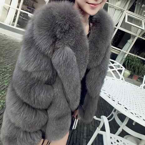 Пальто из искусственного меха 2019 зимние женские толстые пушистые куртки из искусственного лисьего меха винтажные негабаритные норковые шубы Elegnat для женщин G458