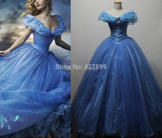 Hot Sale 2015 New Movie Deluxe Cinderella Dress Cosplay Costume ...