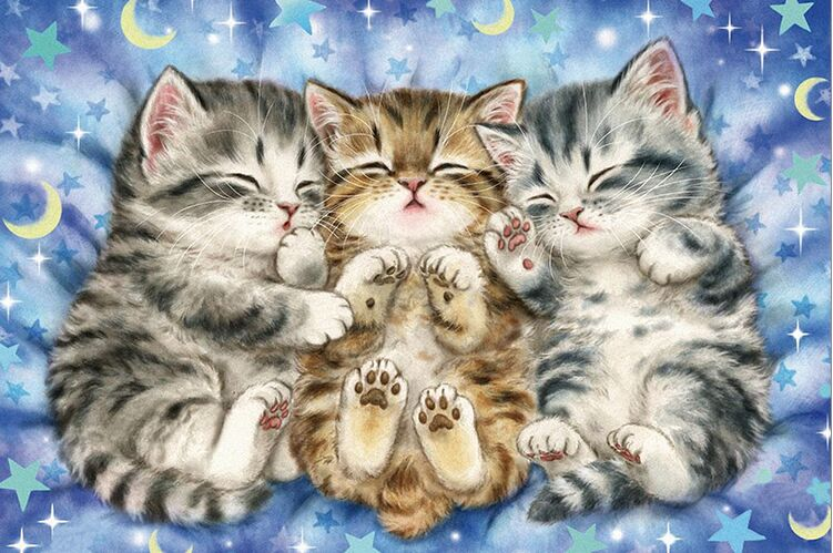 Three Kittens The Wooden Puzzle 1000 Pieces Ersion Jigsaw Puzzle White Card Adult Children's Educational Toys
