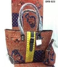 Erstaunliche hollandias Wachs Mit Handtasche set, afrikanische mode Wachs passende Frau hohe qualität tasche und Schuhe für party hochzeit DFB-023
