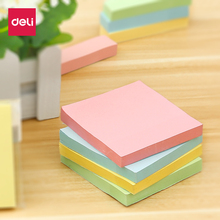 Deli memo paper 4 colors paste fashionable sticky notes business office convenient stickers stationery Writable Index Note Paper 6 colors 90 sheets writable index note paper sticky notes post it memo pad stationery office accessory school supplies