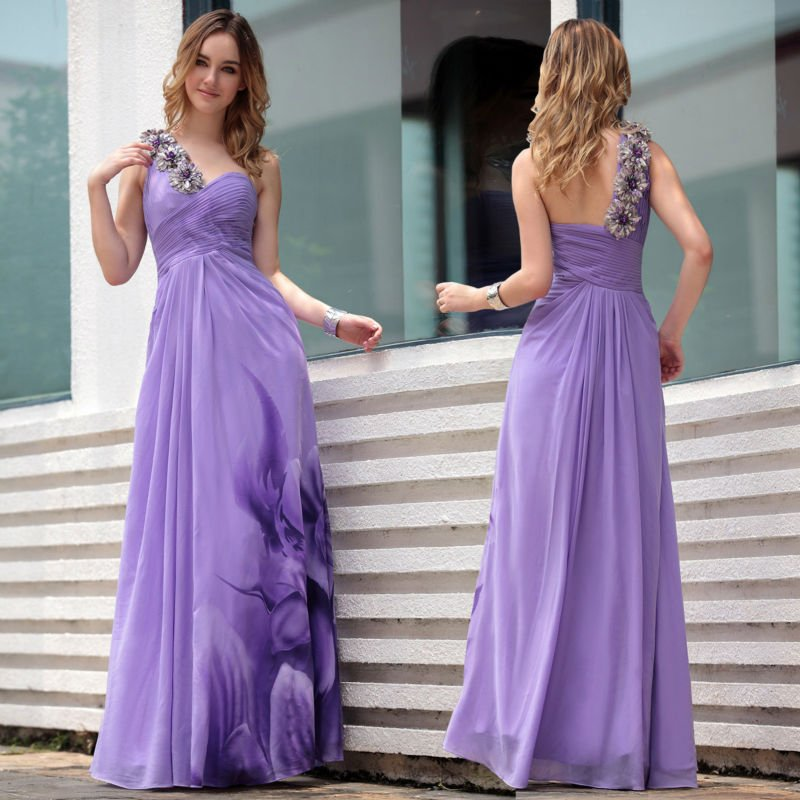 Fast shipping latest western designs purple bridesmaids dresses ...