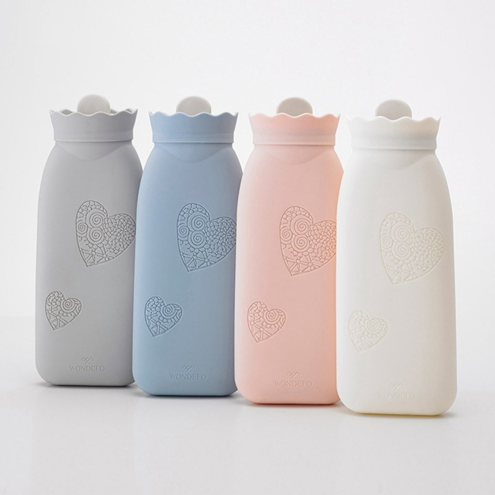 Hand Warmer Hot Water Bag Warm Bottle Microwave Silicon Kids Foot Neck Outdoor Heating  Kettle Gift