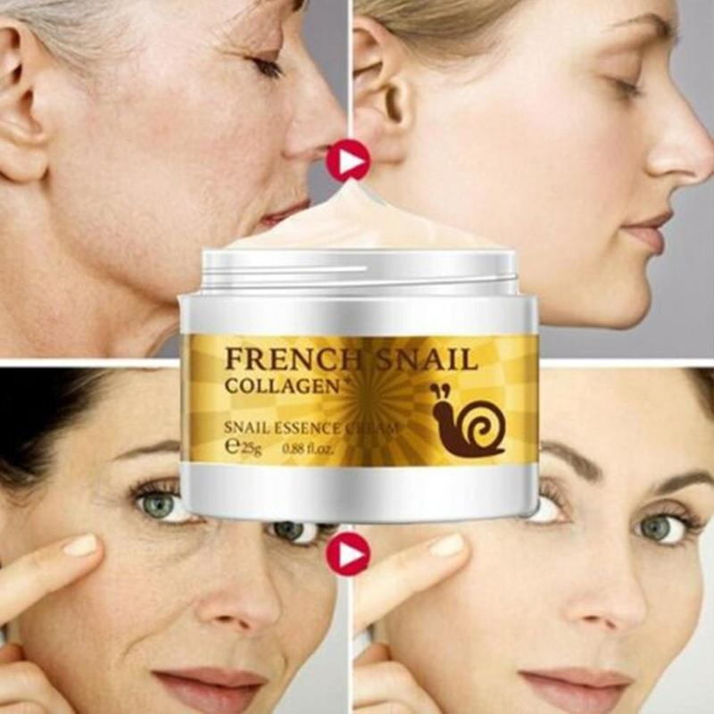 Snail Face Cream Hyaluronic Acid Moisturizer Anti Wrinkle Anti Aging Nourishing Serum Collagen whitening Cream Skin Care 5
