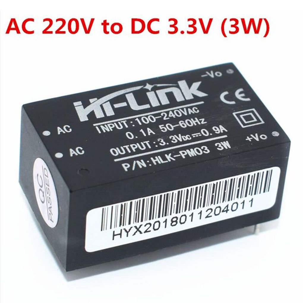 HLK-PM01 HLK-PM03 HLK-PM12 Mini <font><b>Power</b></font> <font><b>Supply</b></font> <font><b>Module</b></font> Intelligent Household Switch <font><b>Power</b></font> <font><b>Module</b></font> <font><b>AC</b></font>-<font><b>DC</b></font> 220V to 5V/<font><b>3.3V</b></font>/12V image
