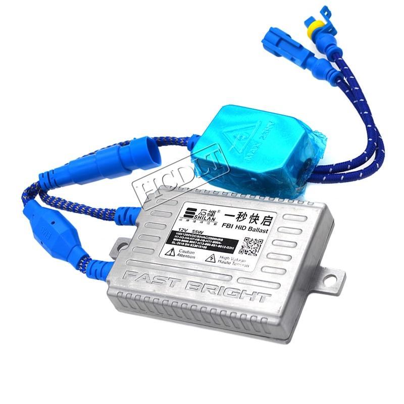 HCDLT Car Headlight Kit Xenon H7 55W 5500K Fast Bright HID H1 H7 H11 HB3 HB4 D2H Xenon Bulb Kit 55W Quick Start Ballast Reactor (6)
