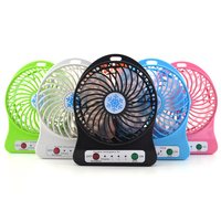 100 Sets 2017 Portable Cooler Cooling Small Mini Usb Fan LED Lights Gadgets Fans Powerbank Computer