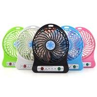 100 sets 2017 Portable Cooler Cooling Small Mini usb Fan LED Lights Gadgets Fans powerbank Computer Laptop Desk Office PC