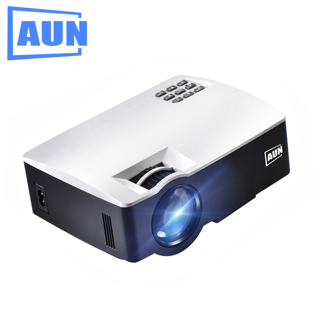 AUN Beamer LED Proyector (Optional Android 6 Support 4K Video) Home Theater Support Full HD Mini Projector Portatil AKEY1/Plus